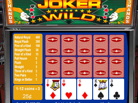 Free 3-hand Joker Wild Video Poker