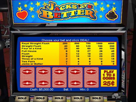 Free Jacks or Better Video Poker