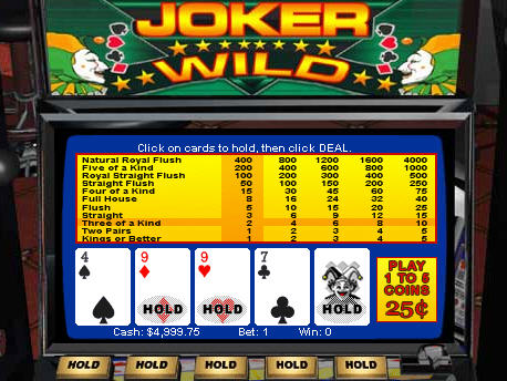 Free Joker Wild Video Poker